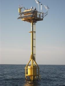 Superwind 350s help power a buoy in the Atlantic Ocean. (Searoc)