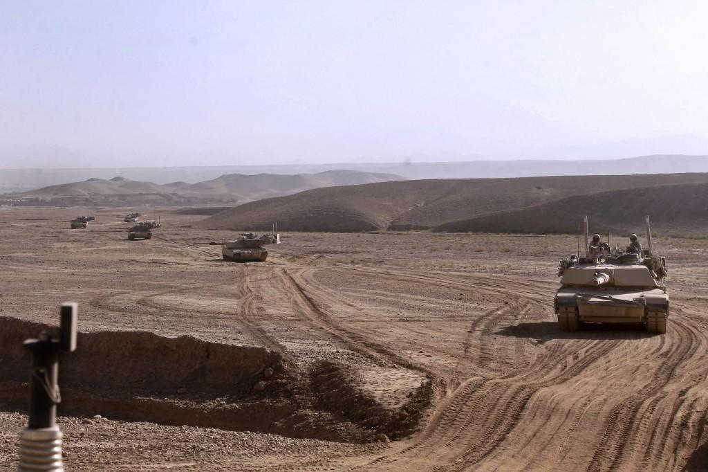 USMC tanks patrol in Helmand province, Afghanistan in 2013. (USMC)