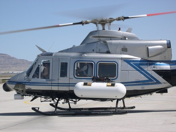 ARES helicopter radiation detection