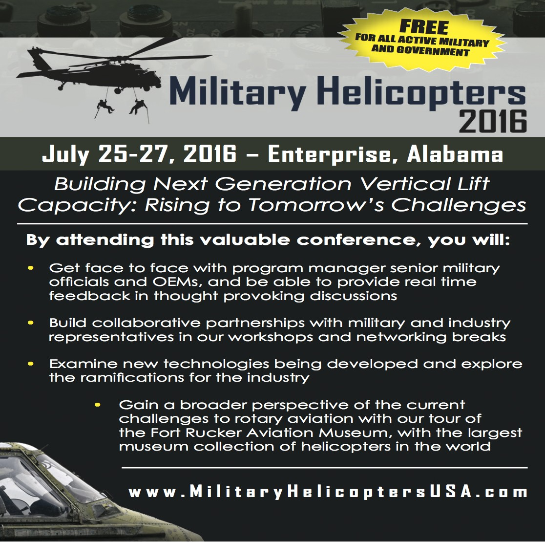 Military Helicopters Baner Ad