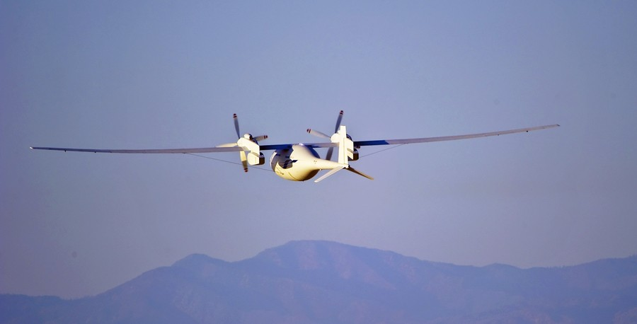 The Phantom Eye by Boeing is a UAV capable of staying loft for days. (Boeing)