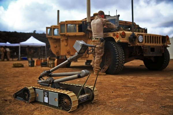 iRobot Packbot in Djibouti USMC